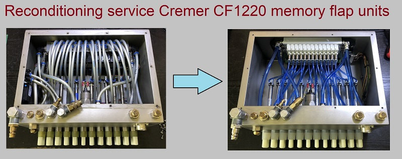Picture of a reconditioned Cremer CF1220 memory flap unit